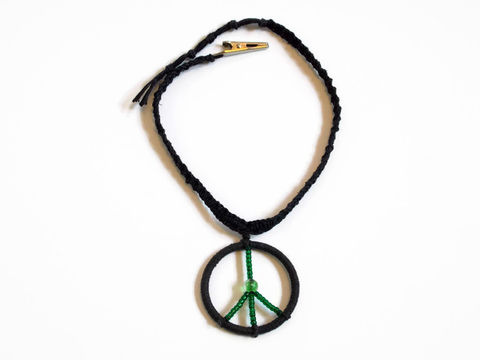 Black,hemp,roach,clip,necklace,with,peace,sign,pendant,men-hemp-choker-necklace, men-hemp-peace-necklace, men-peace-necklace, unisex-hemp-choker, hemp-jewelry, handmade-peace-pendant, women-hemp-peace-necklace, black-hemp-necklace, black-hemp-choker, necklace-roach-clip, roach-clip, alligator-roach-clip, glow