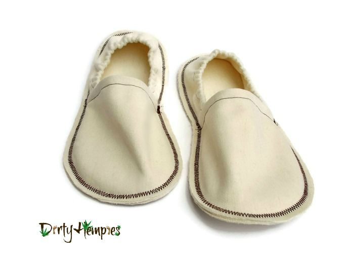 Unisex Hemp Slippers for men or women, Eco Friendly House Shoes - product images  of