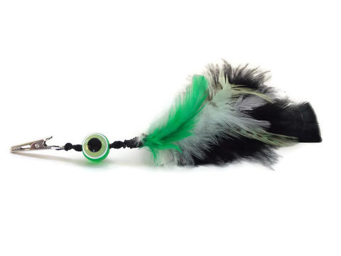 Green,eye,to,ward,off,evil,feather,roach,clip,hair-feathers, roach-clip, feather-roach-clip, evil-eye-clip, evil-eye-jewelry, green-evil-eye, green-eye, clip-in-feathers, hippie-clip, hippie-guy-birthday-gift, hippie-guy-gift, hippie-gift, alligator-clip-feathers, stoner-clip, cli