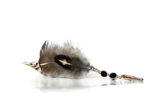 Black,lava,bead,feather,roach,clip,short-feather-roach-clip, roach-clip, feather-roach-clip, smoking-accessory, cannabis-clip, medical-marijuana, hippie-gift, feather-clip, black-feather-roach-clip, hair-feathers