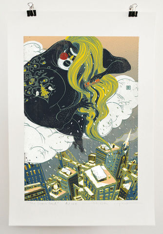 The,Snow,God,Victo Ngai, limited edition giclee print, snow, christmas, humor, whimsical