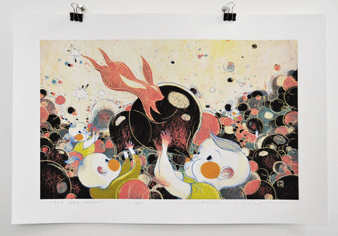 The,Safe,Keepers,Victo Ngai, limited edition giclee print, rabbit, babies, keep safe