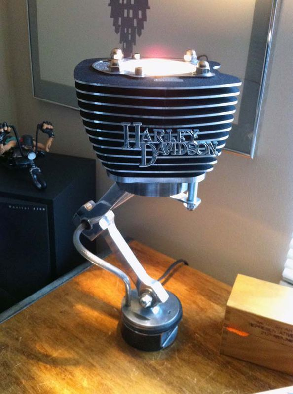 Nice Set Of Jugs Lamps Made From Recycled Harley Davidson