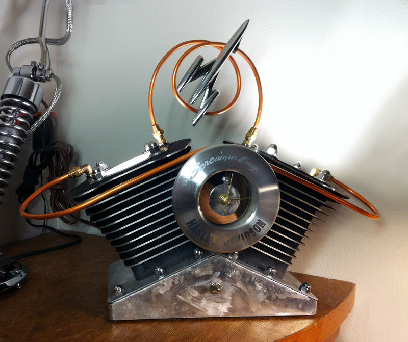 ... Jugs Table Lamp Made From Recycled Harley Davidson Parts Jugs Table Lamp  Made From Recycled Harley ...