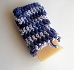 Purple,Soap,Saver,,Handmade,Crochet,Cotton,Sack,bath_and_beauty,skin_care,handmade, soap_saver,soap_sack,cotton,scrubbie,eco_friendly,washcloth,soap_bag,bath,purple, cotton soap saver