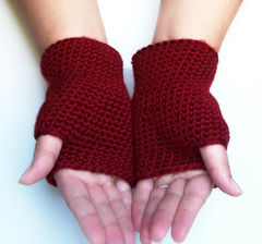 Autumn,Red,Fingerless,Gloves,Crochet,Accessories,accessories,gloves,fingerless,crochet,shaped,handmade,short gloves,autumn accessories,unisex,red,autumn_red