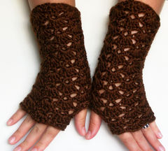 Brown,Lace,Fingerless,Gloves,Chocolate,Autumn,Winter,Accesories,crochet accessories,lace fingerless gloves, fingerless gloves,gloves,women gloves,chocolate_brown,autumn accessories, winter accessories,victorian gloves