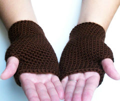 Chocolate,Brown,Fingerless,Gloves,Spring,Autumn,Winter,Accesories,accessories,gloves,fingerless,crochet,shaped,handmade,dark,teambluegrass,teamapril,brown,chocolate,short,women,acrylic