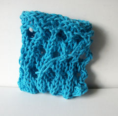 Blue Hand Knit Mesh Soap Saver Sack 100% Cotton - product images 3 of 5
