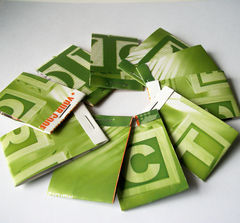10,Green,Matchbook,Notebooks,Letter,Block,Recycled,Covers,paper_goods,notebook,recycled,matchbook_notebook,matchbook_notepad,upcycled,ooak,one_of_a_kind,jotter,repurposed,green,letter_blocks,wooden_blocks