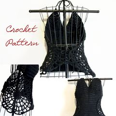 Crochet,Pattern:,Sexy,Spiderwebs,Halter,Top,Goth,Halloween,Pattern,Small-,Medium-,Large,halter_top_pattern,crochet_pattern,Halloween_pattern,Goth_crochet,Goth_crochet_pattern,spiderweb_clothing,spiderweb_pattern,gothic_crochet_pattern,crochet_halter_pattern,small_pattern,medium_pattern,Large_pattern