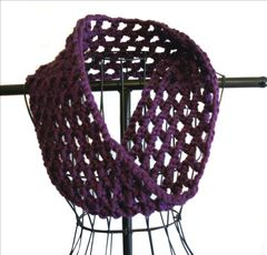 Crochet Chunky Cowl Openwork Style All Colors - product images 5 of 12