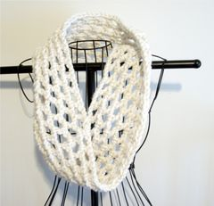 Crochet Chunky Cowl Openwork Style All Colors - product images 8 of 12