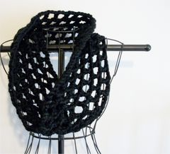 Crochet,Chunky,Cowl,Openwork,Style,All,Colors,chunky cowl, crochet cowl, handmade, openwork, lace cowl, long cowl, long infinity scarf