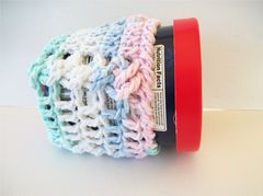 Pint Size Ice Cream Cozies Crochet Cable Cozy With Built In Coaster Cotton - product images 5 of 12