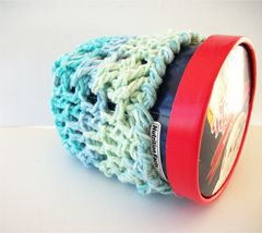 Pint Size Ice Cream Cozies Crochet Cable Cozy With Built In Coaster Cotton - product images 9 of 12