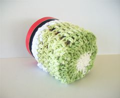 Pint Size Ice Cream Cozies Crochet Cable Cozy With Built In Coaster Cotton - product images 4 of 12