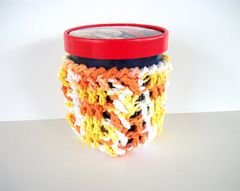 Pint Size Ice Cream Cozies Crochet Cable Cozy With Built In Coaster Cotton - product images 7 of 12