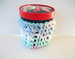 Pint Size Ice Cream Cozies Crochet Cable Cozy With Built In Coaster Cotton - product images 6 of 12