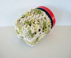 Pint Size Ice Cream Cozies Crochet Cable Cozy With Built In Coaster Cotton - product images 11 of 12