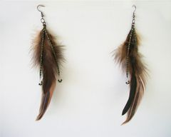 Beaded Feather Earrings Long Dangle Earrings Shoulder Dusters - product images 7 of 12