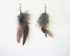 Beaded Feather Earrings Long Dangle Earrings Shoulder Dusters - product images 11 of 12