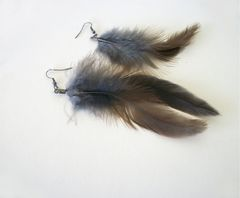 Beaded Feather Earrings Long Dangle Earrings Shoulder Dusters - product images 12 of 12