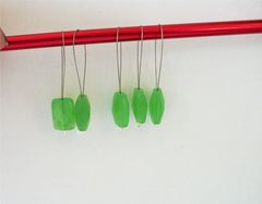 5,Grass,green,Snagless,Knitting,Stitch,Markers,For,Bulky,Needles,bulky needle stitch markers, knitting stitch markers, green stitch markers, snagless knitting stitch markers
