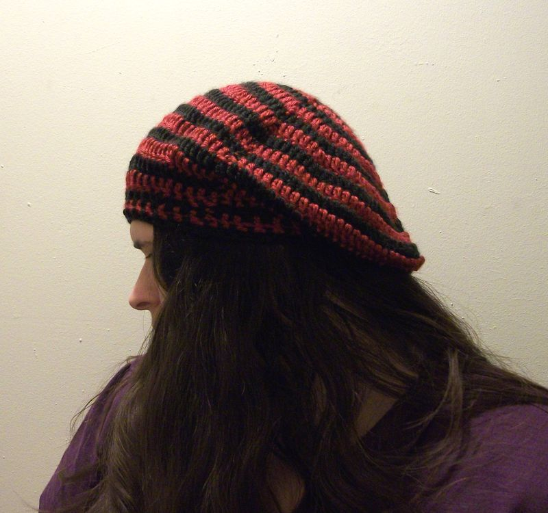 Beret Slouch Hat Crochet Pattern - product images  of