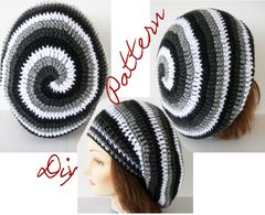 Slouch,Hat,Pattern,Crochet,4,Color,Ombre,Spiral,slouch hat pattern, crochet hat pattern, spiral hat pattern, ombre, striped hat pattern