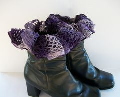 Ruffled,Boot,Cuffs,Faux,Socks,,Toppers,,Accessories,boot socks, boot toppers, ruffled boot cuffs, boot cuffs, boot accessories, victorian, goth, mermaid costume