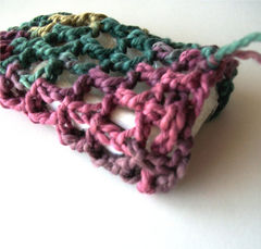 Organic,Cotton,Soap,Saver,Bag,Mesh,Style,Pink,,Purple,,Green,,and,Teal,Meadow,soap saver, crochet soap saver, soap bag, mesh soap saver, organic cotton, teal meadow, drawstring bag, multicolored, pink, purple, green, teal