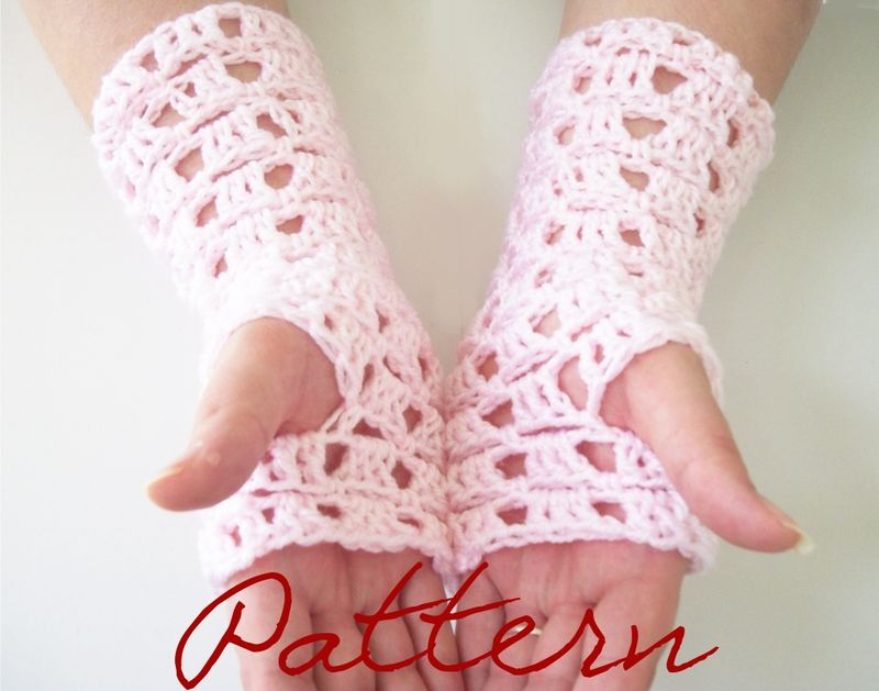 Free Crochet Pattern Opera Gloves : Patterns and Kits Collection - One Stitch Designs