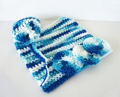 Blue,Ombre,Cotton,Bath,Set,Washcloth,Face,Scrubbies,Soap,Saver,crochet,housewares,wash_cloth,bathroom,dish_cloth,cotton,cleaning,scrubbies,bath_and_body,skin_care,soap_saver,white,blue,denim,bath_set, bath gift set