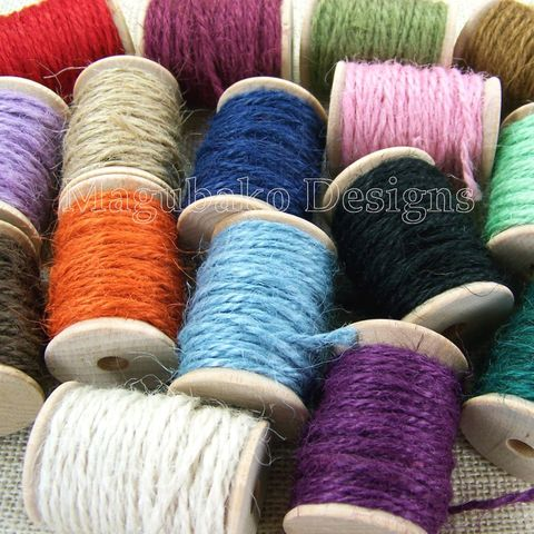 Jute,Twine,on,a,Wooden,Spool,-,10,Yards,16,Colors,to,Choose,From,jute twine, jute burlap cord, natural jute, 2 mm jute string, string, cord, colored jute, jute by the spool, jute spool, pink jute, red jute, green jute, blue jute, black jute twine, brown jute, wrapping supply, packaging cord
