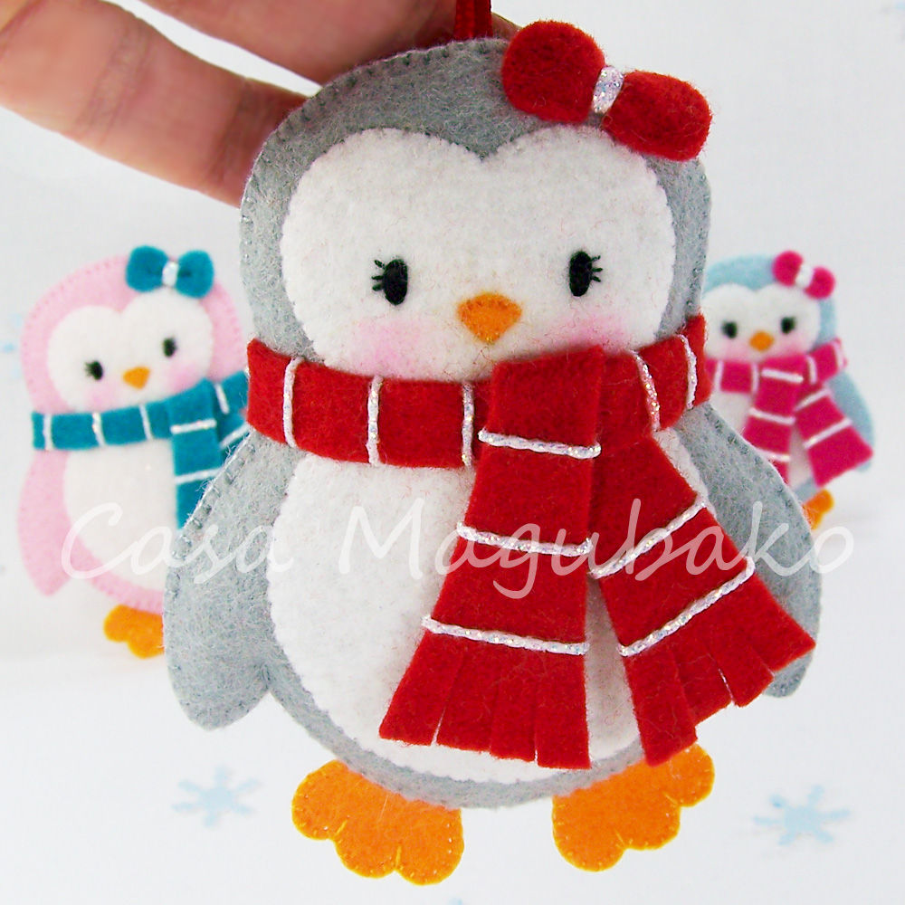 Felt Penguin Digital PatternPDF FileDIY Ornament or