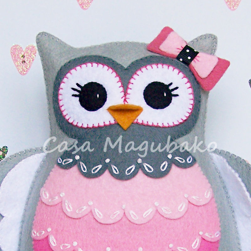 Felt Owl Pincushion Digital Pattern - PDF File - Owl Soft Toy - Owl ...