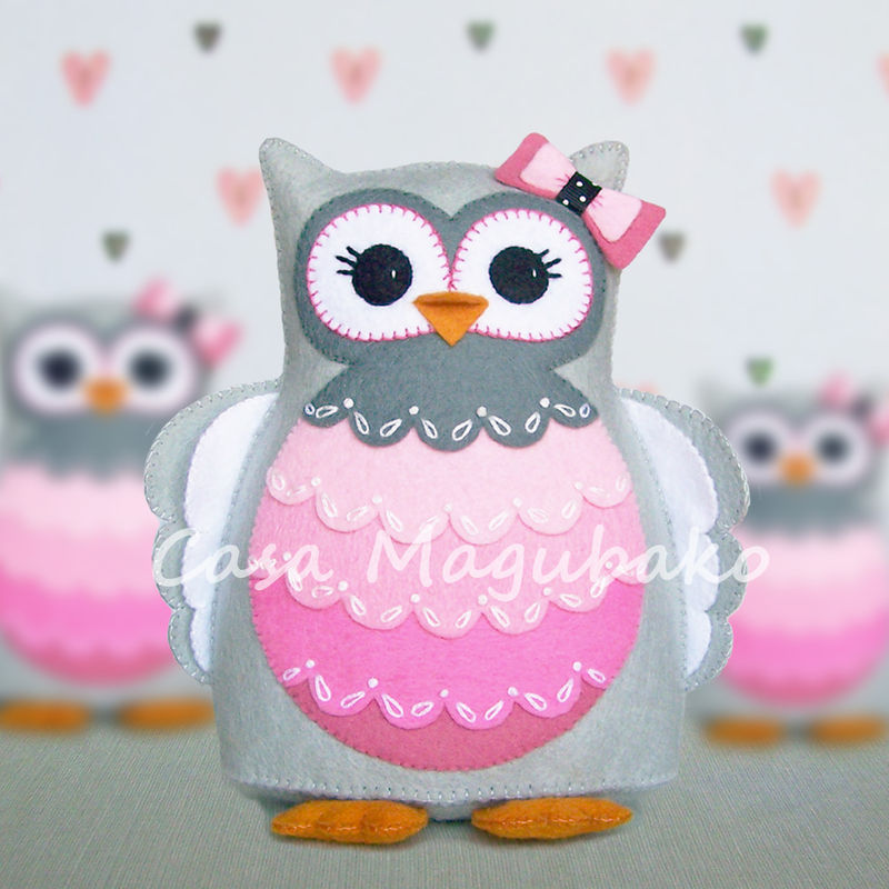 Felt Owl Pincushion Digital Pattern - PDF File - Owl Soft ...