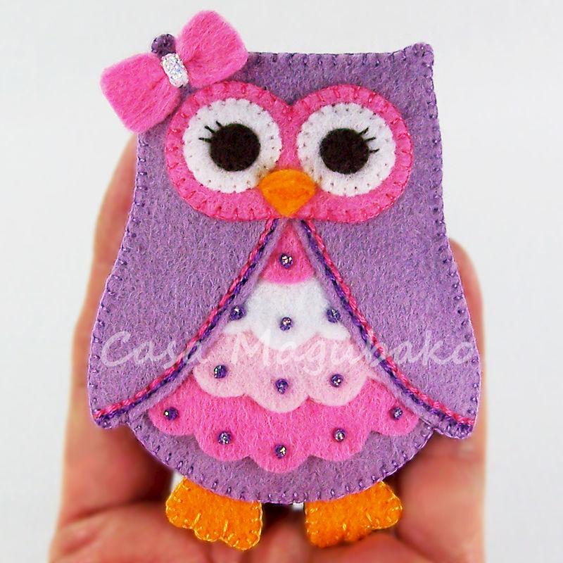 Felt Owl Ornament or Embellishment Pattern - PDF File - Owl Tutorial ...