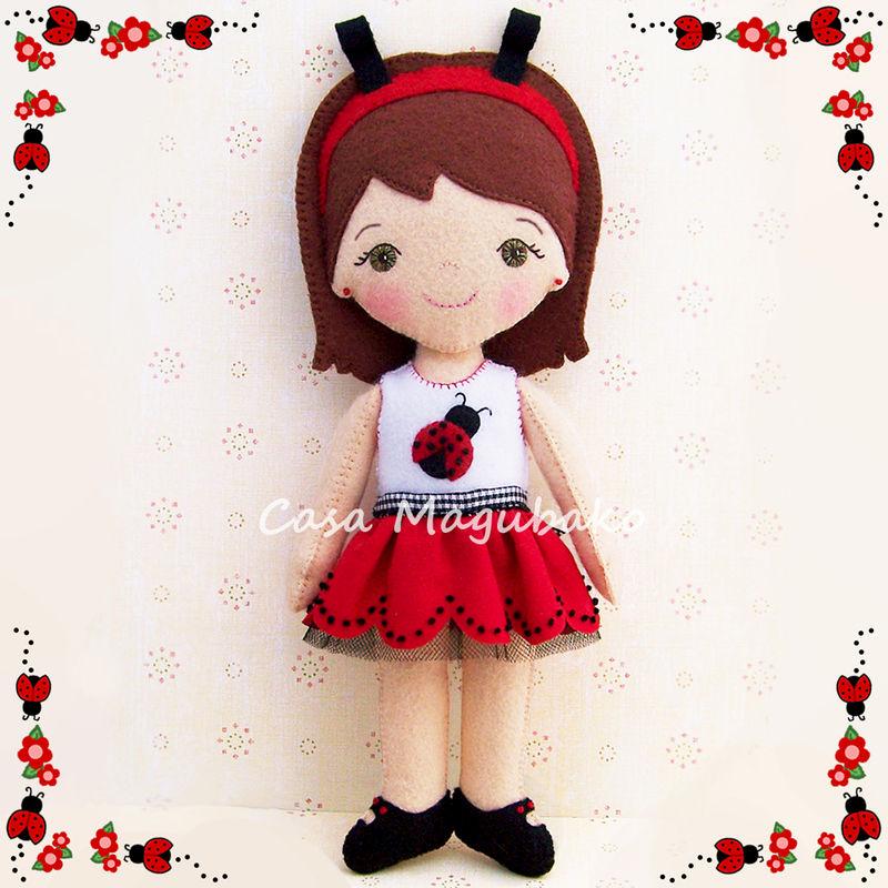 Ladybug Doll Digital Sewing Pattern - DIY Hand Stitched Doll - PDF ...