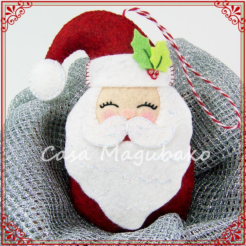 Santa Ornament Sewing Tutorial Diy Hand Stitched Christmas