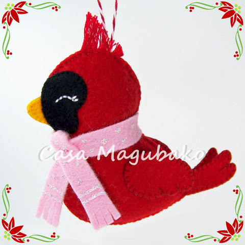 Felt,Cardinal,Bird,Ornament,-,DIY,Hand,Stitched,Christmas,Sewing,Tutorial,PDF,File,Pattern,felt Cardinal bird sewing pattern, sewing digital pattern, Cardinal ornament tutorial, Bird pattern, Cardinal Bird templates, PDF File, sewing instructions, handstitched felt, Christmas ornaments DIY, felt Christmas, stuffed cardinal bird, winter decorati