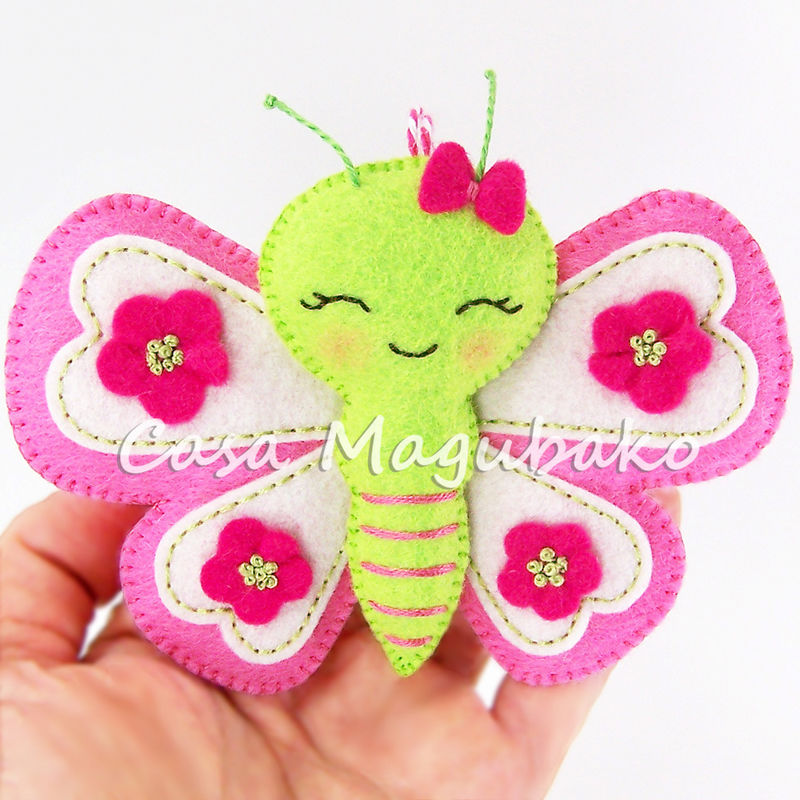 Felt Butterfly Digital Pattern – PDF File  - product images  of