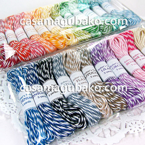 Baker's,Twine,Set,-,23,Bundles,of,5,Yards,Each,Colors,115,Total,baker's twine, twine, cord, string, supplies, the twinery, twine sampler, packaging, paper crafts, cardmaking, scrapbooking, gift wrapping, 4 ply twine, Twine 115 yards
