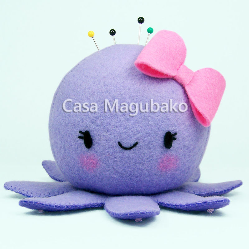 Sewing Pattern: Felt Octopus with a Bow or a Sailor\'s Cap – Two ...