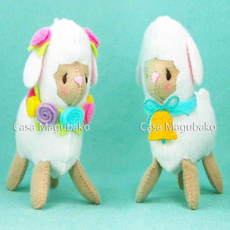 PDF Sewing Pattern: Felt Lamb and Felt Cloud Ornaments - A Handsewing Project - product images  of