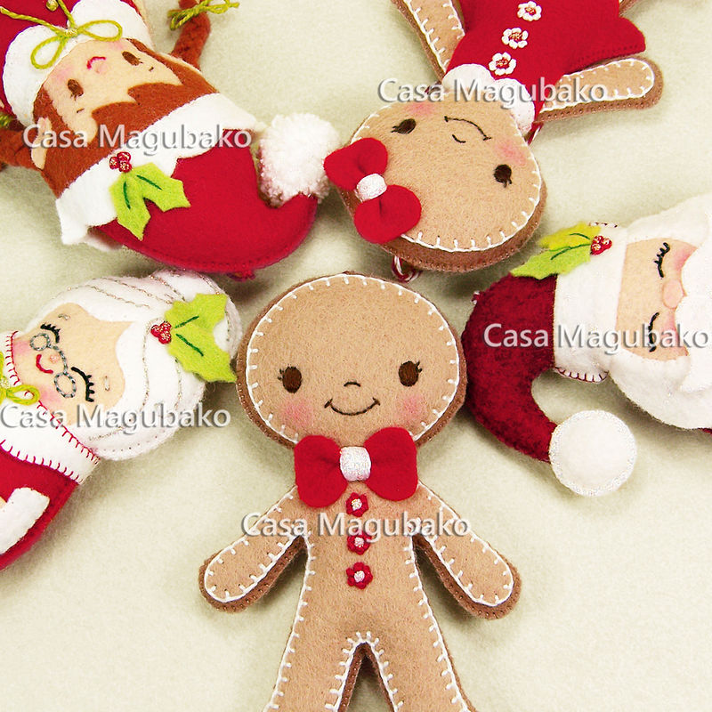 wool boy gingerbread ornament handmade gingerbread man christmas tree decor winter decoration wool