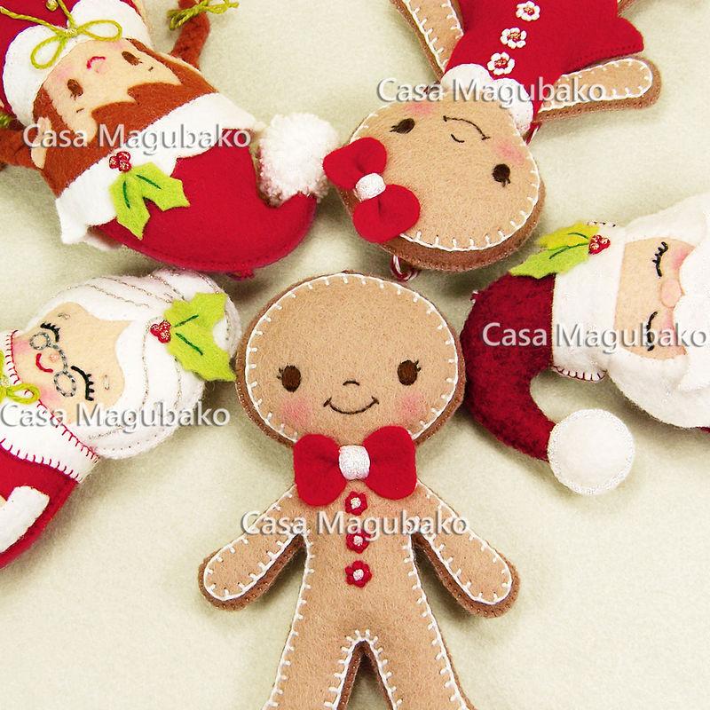 wool boy gingerbread ornament handmade gingerbread man christmas tree decor winter decoration wool