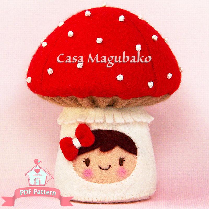 Toadstool Pincushion Felt Pattern, DIY Pincushion, Felt Mushroom ...