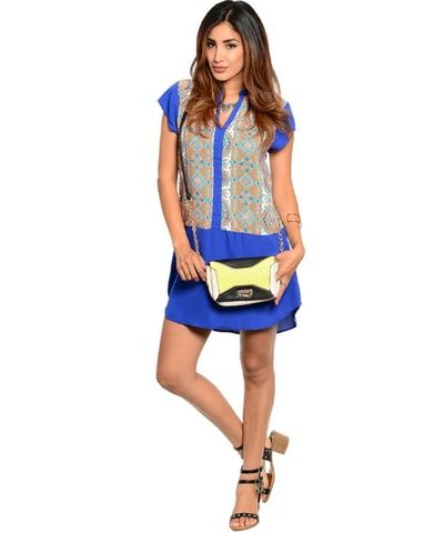 Blue,Royal,Tunic,Blue royal tunic